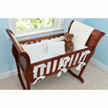 monogrammed matelasse cradle bedding by sweet william