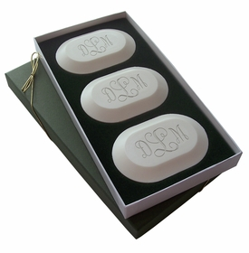 monogrammed soap (set of three)
