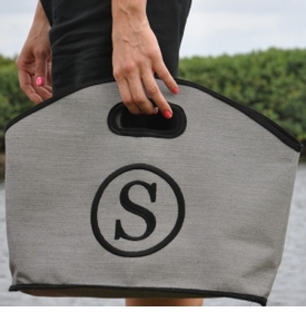 monogrammed solid GG tote