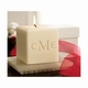monogrammed soy candle