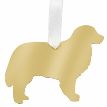 moon and lola bernese mountain dog christmas ornament - gold