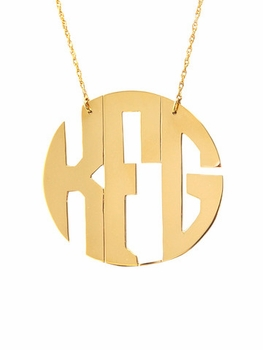 moon and lola block monogram necklace