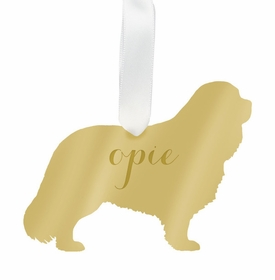 moon and lola cavalier king charles spaniel christmas ornament - gold