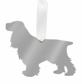 moon and lola cocker spaniel christmas ornament - silver