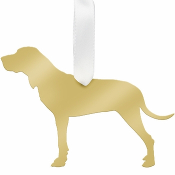 moon and lola hound christmas ornament - gold
