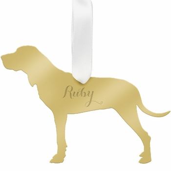 moon and lola hound christmas ornament - silver