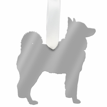 moon and lola husky christmas ornament - gold