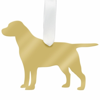 moon and lola labrador christmas ornament - silver