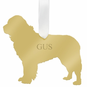 moon and lola newfoundland christmas ornament - gold