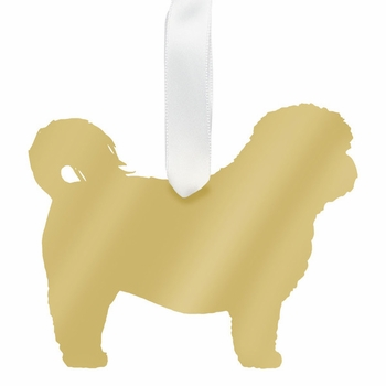moon and lola shihtzu christmas ornament - gold