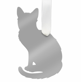 moon and lola short haired cat ornament - silver