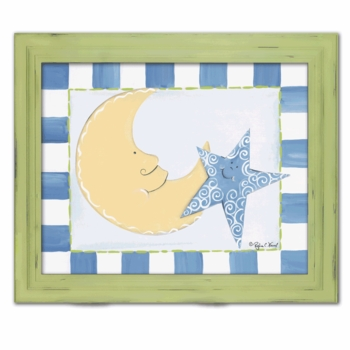 moon and stars canvas reproduction wall art - SOLD OUT