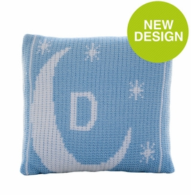 moon and stars initial pillow