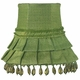 moss green skirt dangle chandelier shade