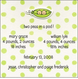 multiple birth announcements
