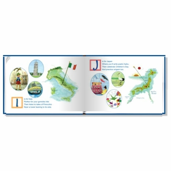 my abc book - around the world keepsake book