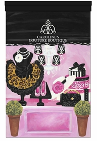 my couture boutique pink licorice personalized wall hanging
