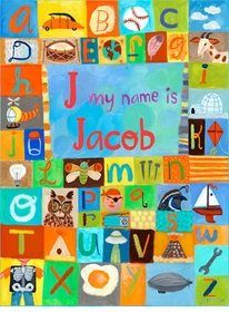 my name is boy wall art