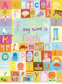 my name is girl wall art