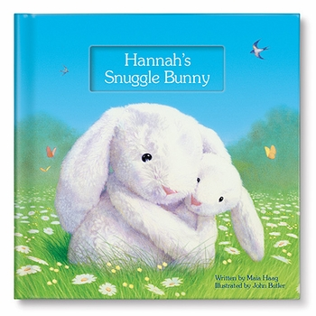 my personalized snuggle bunny book