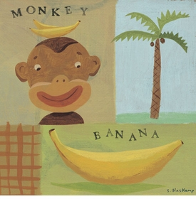 nana monkey wall art by steve haskamp