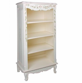 narrow french bookcase - ribbons & roses