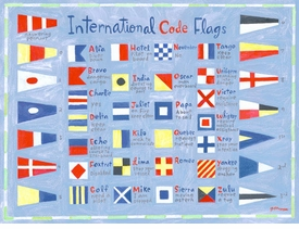 nautical flags wall art