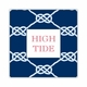 nautical knot navy square paper coaster<br>set of 50