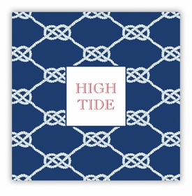 Nautical Knot Navy Square Lucite Tray Insert