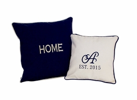 navy decor pillowcase