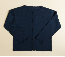 navy girls cardigan