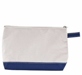 navy personalized makeup bag