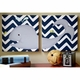 navy whale diptych wall art