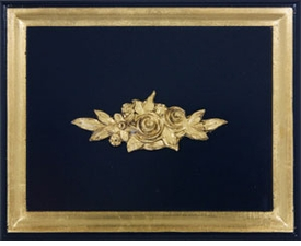 navy with gold gilding wood finish