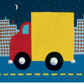 night delivery wall art