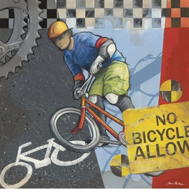 no bicycles allowed wall art - unavailable