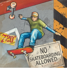 no skateboarding allowed wall art - unavailable