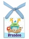 noah's ark christmas ornament  (boy)