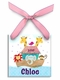 noah's ark christmas ornament (girl)