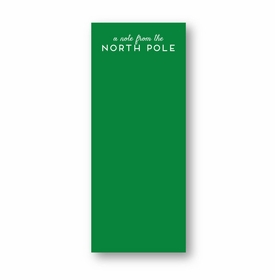 North Pole Skinny Notepad
