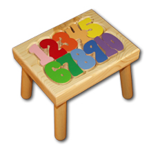 Number Puzzle Stool Featured At Babybox Com