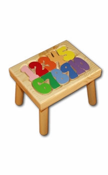number puzzle stool