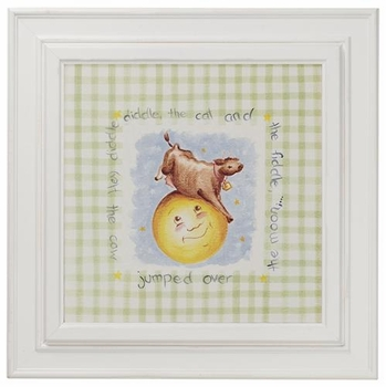 nursery rhyme print (cow and moon)