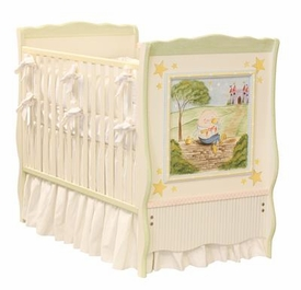 nursery rhymes french panel crib