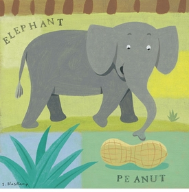 nutty elephant wall art by steve haskamp
