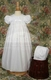 nylon tricot christening gown with embroidered bodice - 25""