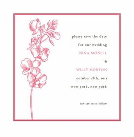 oh my orchid rehearsal dinner invitation