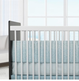oilo crib bedding - kai aqua crib bedding set