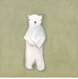 oliver the polar bear wall art by marisa haedike