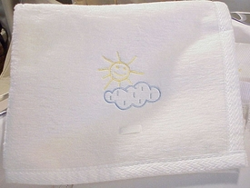 one fine day baby blanket by sweet william